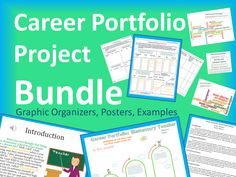 Career Research Report Project BUNDLE.  Includes: Graphic organizers for student career research, Career Cluster Posters, Published Career Portfolio Project Examples (published in Prezi, PowerPoint, and Word document), and a Keep Calm career poster! $