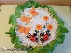 Tavaszi saláta vidám tálalásban Cake, Desserts, Food, Salads, Tailgate Desserts, Deserts, Kuchen, Essen, Postres