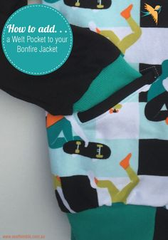 How to add welt pockets to your sewn project // free pattern piece
