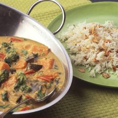 A mild and creamy vegetable curry that can be served as a main course or a side dish.