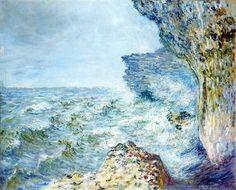 Claude Monet, The Sea at Fécamp on ArtStack #claude-monet #art