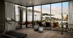 Oxley & Stirling // 9 Christie Street, South Brisbane, QLD // Client: Aria Property // Interior Designer and Architect: Elenberg Fraser