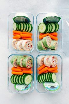 """Easily """"Meal Prep"""" these Ham and Cheddar Pinwheels with fresh fruit, fresh veggies, and Marzetti's Veggie Ranch Snack Packs My two little boys aren't quite old enough to go to a full day of school … Lunch Snacks, Clean Eating Snacks, Lunch Recipes, Healthy Recipes, Keto Recipes, Fruit Recipes, Healthy Foods, Snacks List, Eating Raw"""