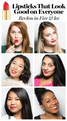 LipstickCharts.jpg Revlon super lustrous red shade fire and ice is a lipstick that looks good on everyone
