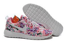 various colors c4f11 63682 Benvenuto al Nike Roshe Run Print Fantasia Fiori Donna Sportive Rosa Viola  Bianche Running Shoes Nike