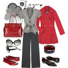 Red & Grey business style
