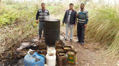 #Jammu One booked, 1700 kgs of Lahan, 01 working stills & 35 pouches, 08 bottles of illicit liquor destroyed by Excise team Read here - http://u4uvoice.com/?p=254463