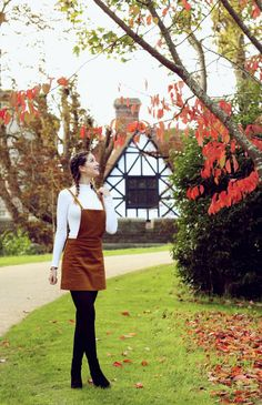 Zoella | Autumn Style | Pinafore & Plaits