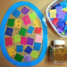 SnapWidget   egg sun catcher ... easy to make ... childcareland.com/home/egg-suncatcher #earlyed #easter #ece #childcare #daycare #homeschool #kindergarten #finemotorskills #preschool #prek