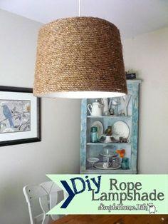 DIY Jewelry DIY Nautical Rope : Diy Rope Lampshade