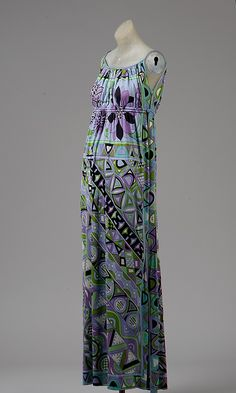 1966, Italy - Silk evening dress by Emilio Pucci