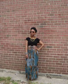 green and brown maxi with black 1 by ShenDove, via Flickr