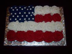 flag - Cupcake pull-a-part cake