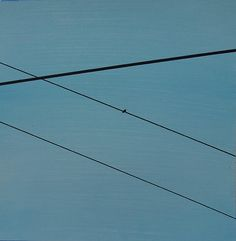 "Power Lines 03, 12"" x 12"", Acrylic & marker on 240lb acrylic paper, Aug2014, Thirty Paintings in Thirty Days ©AbstractionsbyRonda"