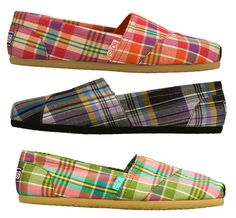Go preppy for Spring with plaid print BOBS from SKECHERS!