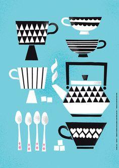 """""""Kuppila"""" poster design by Kristiina Haapalainen & Sami Vähä-Aho 2011."""