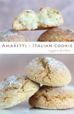 Amaretti Recipe - Italian Macaron Cookies - Gluten Free - Eugenie Kitchen