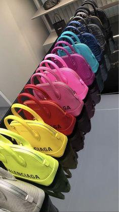 Balenciaga Bag 🌈 Love the yellow and the other on the back Luxury Purses, Luxury Bags, Luxury Handbags, Purses And Handbags, Replica Handbags, Handbags Michael Kors, Louis Vuitton Handbags, Balenciaga Bag, Fashion Bags