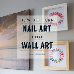 DIY: From Nail Art to Wall Art ~ if I some day have a makeup room or at least area, this would make cute decoration. Especially to change it up based on holidays/season Home Nail Salon, Nail Salon Design, Salon Nails, Nail Swag, Privates Nagelstudio, Nail Station, Beauty Salon Decor, Beauty Salons, Uk Nails