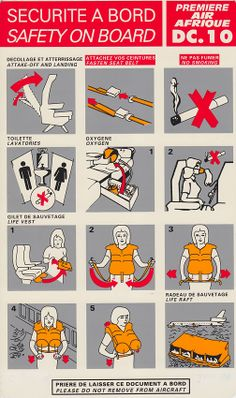 Air Afrique DC-10 Safety Card