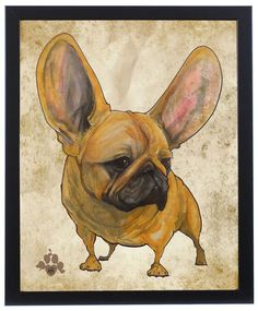 French Bulldog Pictures, Cute French Bulldog, French Bulldogs, Antique Art, Caricature, Animals And Pets, Pop Art, French Kiss, Marlon Brando
