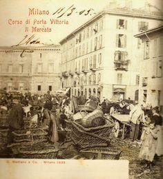 MILANO Sparita - Mercato di corso di Porta Vittoria, 1905.