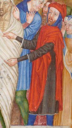 Missale et horae ad usum Fratrum Minorum.  Date d'édition :  1301-1400  Latin 757  Folio 318v