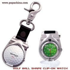 PapaChina feels privileged to introduce the Golf Ball Shape Clip-On Watch which includes some of the amazing features like golf clip on, pops open, plastic golf ball shell, keychain, front print for small logo, back print for big logo to your customers which can be used by them as watching time, holding keys and thus create a awareness among your customers. http://bit.ly/20sebMA