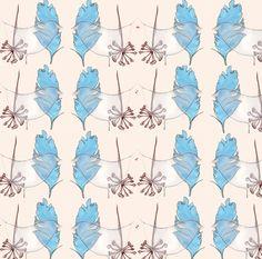 #illustration #print #foliage #feather #collage #pastel #pastels #design #designer #illustrator #handdrawn #drawing #repeat #pattern #repeatpattern