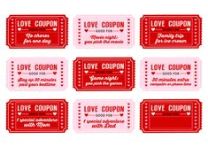 Free Printable Love Coupons for kids on Valentine's Day | CatchMyParty.com