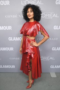 bdc9c9fa759 Tracee Ellis Ross Photos - Tracee Ellis Ross poses backstage at Glamour s  2017 Women of The