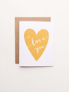 Valentines card. I love you card. Love card. All by PrintSmitten, $4.50