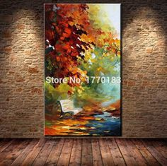Online Shop Framed Large Hand painted Abstract Modern Wall Painting Rain Tree Road Palette Knife Oil Painting On Canvas Wall Art Home Decor Rain Painting, Oil Painting On Canvas, Hand Painted Canvas, Canvas Wall Art, Art Original, Online Painting, Landscape Paintings, Park Landscape, Oil Paintings