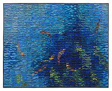 """Koi Shimmer by Tim Harding (Fiber Wall Art) (35"""" x 44"""")"""