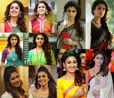 Check out 11 cool hairstyles of actress Nayanthara. Beautiful Girl Indian, Beautiful Saree, Most Beautiful Women, Oval Face Hairstyles, Cool Hairstyles, Nayanthara Hairstyle, Nayantara Hot, Kajal Agarwal Saree, Locks