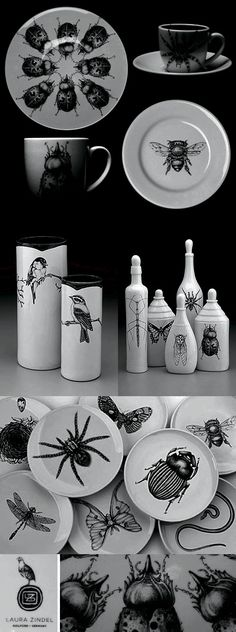 Black & white + bugs   by Laura Zindel (@blackhorsep )