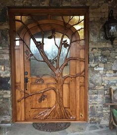 ☮ American Hippie Bohéme Boho Lifestyle ☮ Tree Front Door