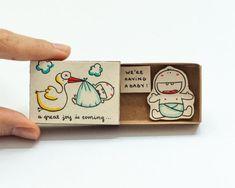 Inspiring Card/ Baby Matchbox / Gift box / Message box