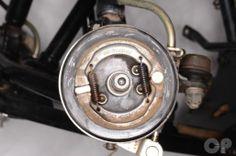 Suzuki LT80 Front Brake Shoe Inspection