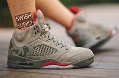 An On-Feet Look At The Air Jordan 5 Camo