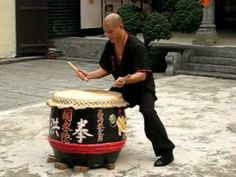 功夫傳奇拍攝之洪拳花鼓(劉家勇師父示範)  Traditional Hung Gar drumming (amazing)