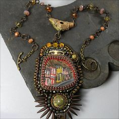Avenue of Mysteries  Necklace with by TimeTravelersTokens on Etsy