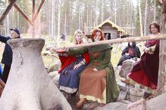 Iron-making at Årsjögård, 2-4 November 2012. Årsunda Viking group in Sweden.