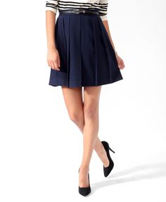 Essential Box Pleated Skirt | FOREVER21 $19.80.  Also comes in camel and black.  I need it.  It's ESSENTIAL.