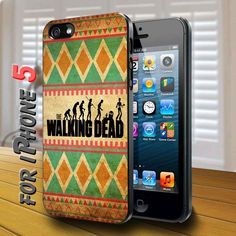 the walking dead logo with chevron Black Case