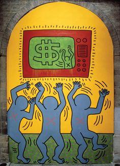 Keith Haring, The Ten Commandments 5 (money), 1985