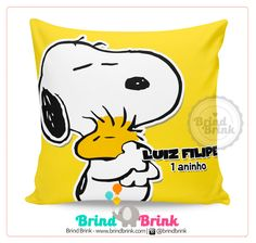 Snoopy - Almofada Personalizada para Lembrancinha - Brind Brink www.brindbrink.com