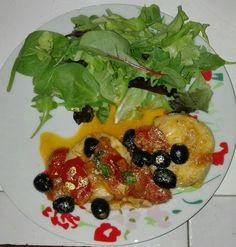 Cuori di merluzzo pomodorini e olive