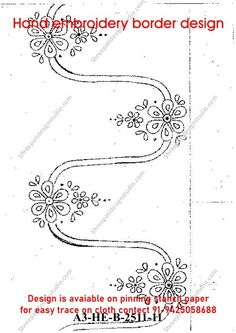 Indian Embroidery, Hand Embroidery, All Design, Book Design, Trace On, Border Design, Paper Design, Paper Size, Outline