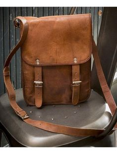 This beautiful messenger bag is the perfect touch of rustic modernism. The Messenger  Bags is ea2272ac736a9